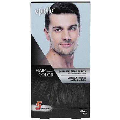 Epielle Hair Color Permanent Hair Dye for Men, Black, 1ct