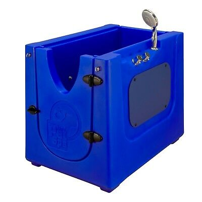 Home Pet Spa Mobile Pet Dog Washing & Grooming Bath Enclosure in/outdoor BLUE