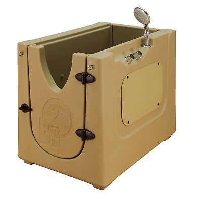 Home Pet Spa Mobile Pet Dog Washing & Grooming Bath Enclosure in/outdoor Mocha