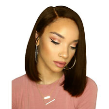 US Pro Glueless Bob Wig Brazilian Straight Short Lace Hair Wigs For Black Women