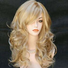 Wigs for women with Bangs Long Curvy Blonde Balayage Red Black Synthetic hair