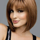 Wigs with Bangs for Woman Short Bob Straight Women Chestnut Blonde/Black Girls