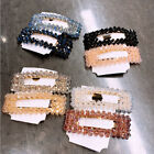Women's Slide Snap Hair Clips Barrette Grips Hairpin Crystal Pins Accessories