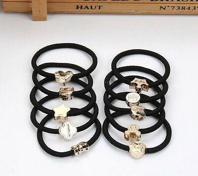 1 Pc Girl Black Elastic Hair Rubber Band Rope Scrunchie Ponytail Holder HOT