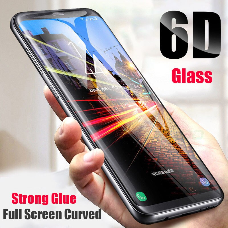For Samsung Galaxy S9 S6 S7 Edge Plus Curve Tempered Glass 6D Full Screen Protector For Samsung S10 S8 Plus Note 9 8 Protective