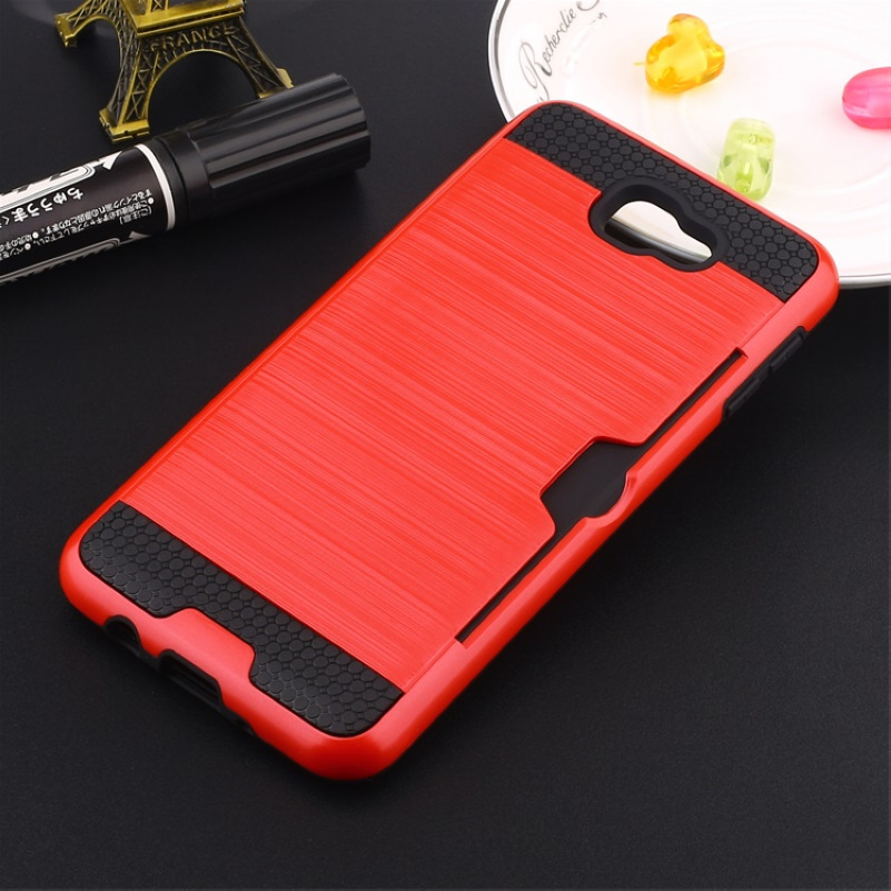 For Samsung S10 S9 S8 S7 S6 S5 S4 Edge Plus Note 9 8 5 4 3 Hybrid Armor Card Holder Slot Silicone Phone Back Covers Case Capa