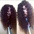Kinky Curly Synthetic Lace Front wig 180% High Density Hair Wigs For Black Women