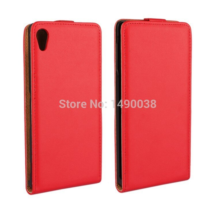 Luxury Genuine Leather Flip Case for Sony Xperia Z4 Mobile Phone Case High Quality with Magnetic Closure Free