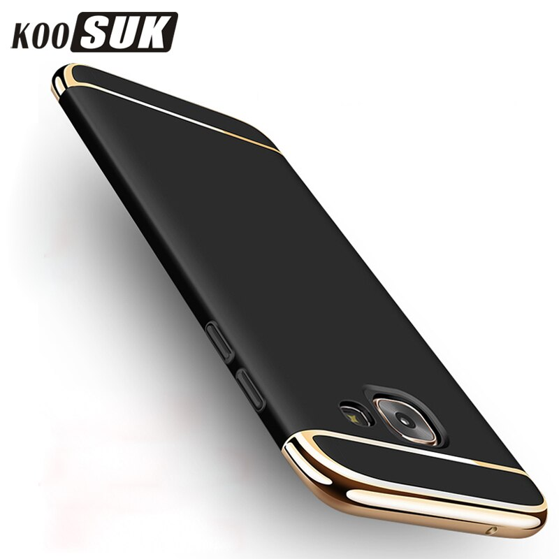 Original Phone Case For Samsung A7 A5 A3 2017 2016 Gold Plated Back Cover For Samsung A6 A8 Plus 2018 PC Hard Shell Coque Funda