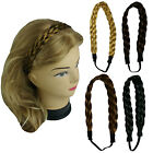 """Synthetic Hair Band Plaited Headband Braided with Elastic 1"""" Wide - US Ship"""