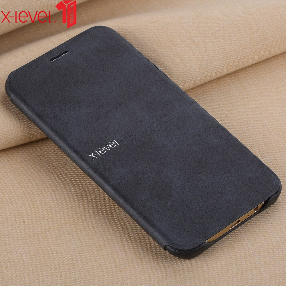 X-Level Leather Phone Case For Samsung A8 2016 Extremely Thin Flip Case For Samsung Galaxy A8 2016