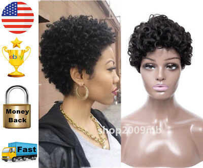 African Afro Wig for Black Women Kinky Curly Wigs Short Black Wig Synthetic Hair