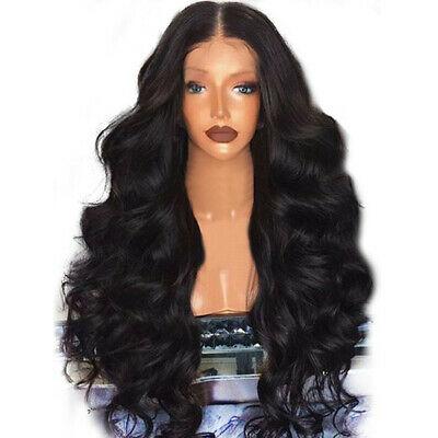 Black Wigs Remy Women Hair Body Wave Wigs For Women Natural Beauty 65-68cm US