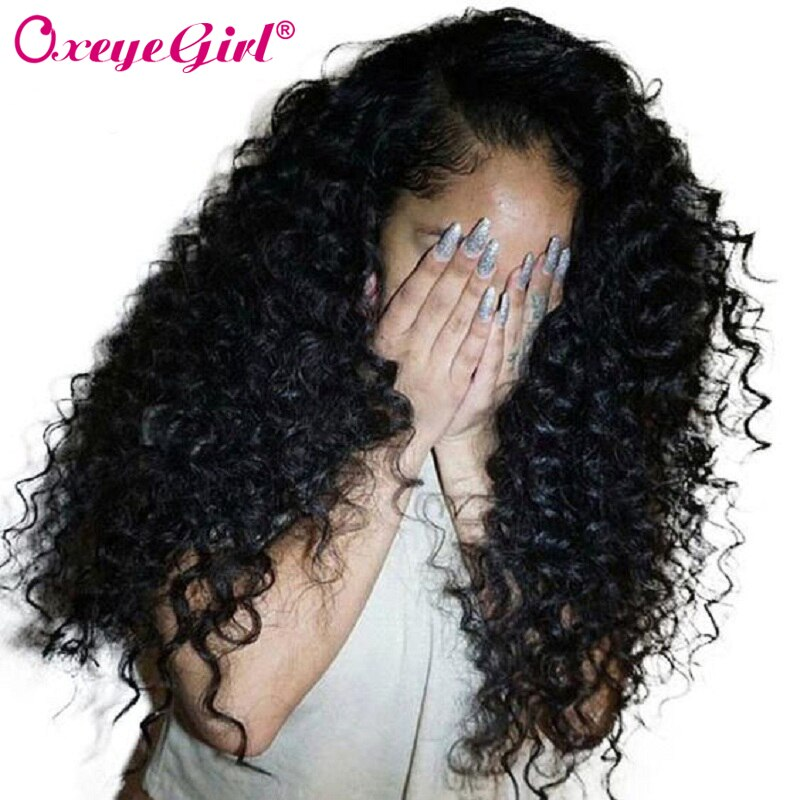 Deep Wave Wig Lace Front Human Hair Wigs Brazilian Hair Lace Front Wigs For Black Women Remy Hair Black Lace Wig Long Oxeye girl