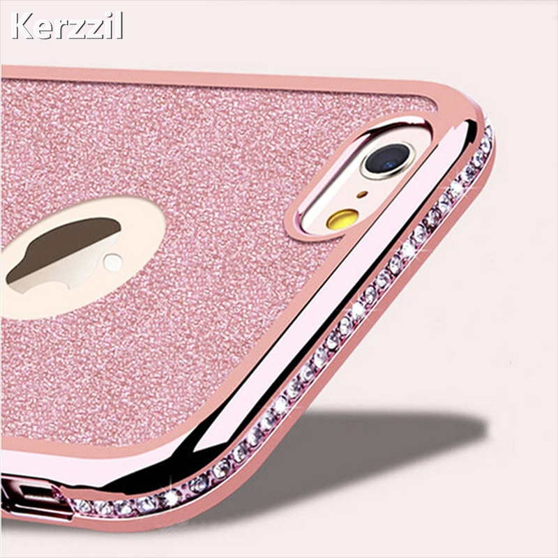 Diamond Case + Bling Shining Card Cover For iPhone X XR XS Max 7 8 6 6s For Samsung Galaxy S10 S9 8 Plus S7 Edge Note 8 9