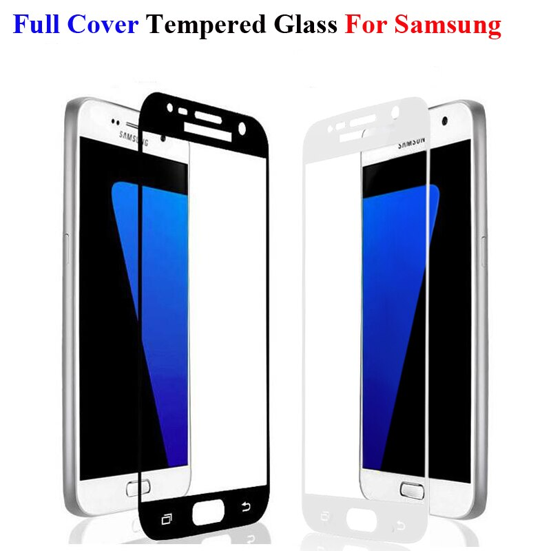 Full Cover Tempered Glass For Samsung Galaxy A8 Plus 2018 A5 A3 A7 2016 J5 J3 J7 2017 S6 S7 J5 Prime J4 J8 J6 J7 2018 Note 4 5