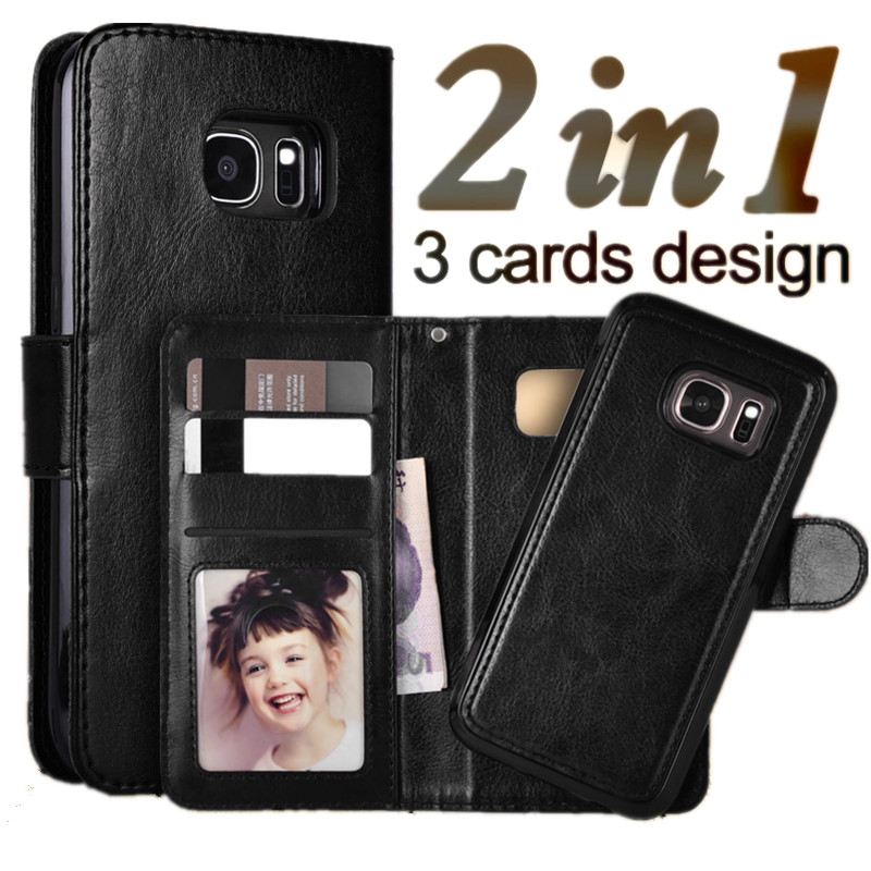 LANCASE For Samsung Galaxy S7 Edge Case Flip Wallet Magnetic PU Leather Case For Samsung Galaxy S7 S6 S6 Edge S8 S9 S9 Plus Case
