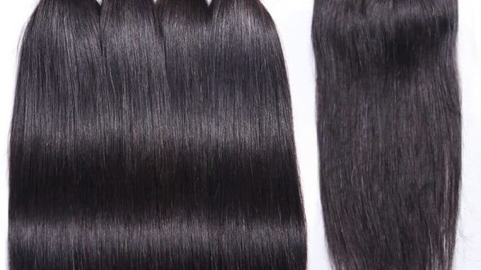 Brazilian Hair Bundles With Closure Straight 7
