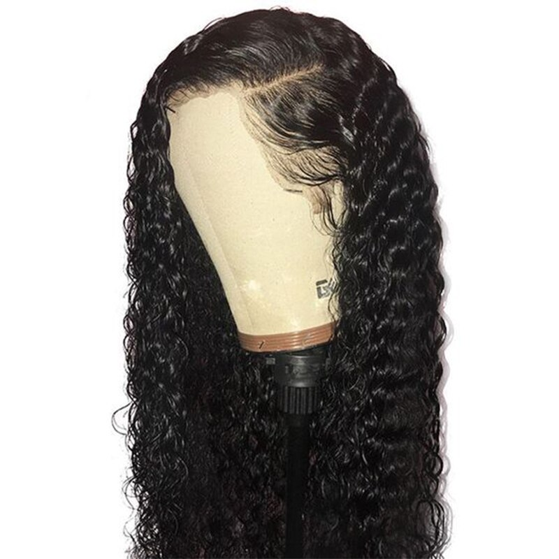 Deep Wave Full Lace Human Hair Wigs For Women Black Short Loose Curly Lace Front Hair Wigs Glueless Brazilian Ever Beauty Remy