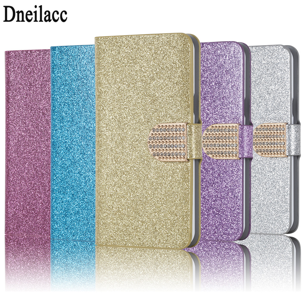 Fashion Bling Diamond Glitter PU Flip Leather mobile phone Cover Case for Alcatel One Touch Pixi 3 4027X 4027D 4028A 4028E 5017D