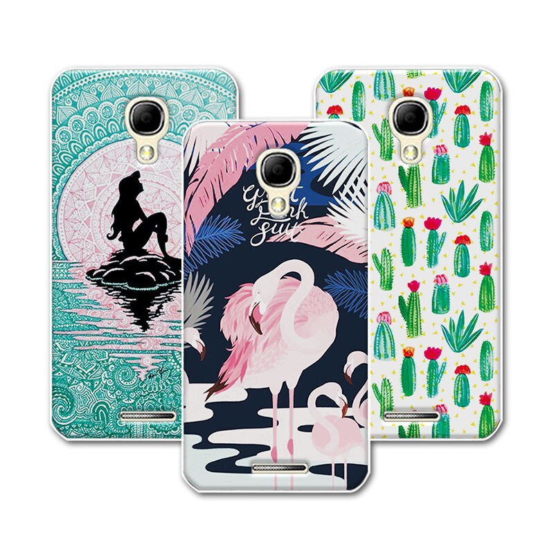 "For Alcatel 5010D 5.0"" Case Cover Mermaid Soft TPU For Alcatel One Touch Pixi 4 OT 5010 5010D 3G Case For Alcatel 5010D Pixi 4"