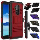 For Alcatel 7/Revvl 2 Plus/7 Folio Phone Case Hybrid Shockproof Hard Stand Cover