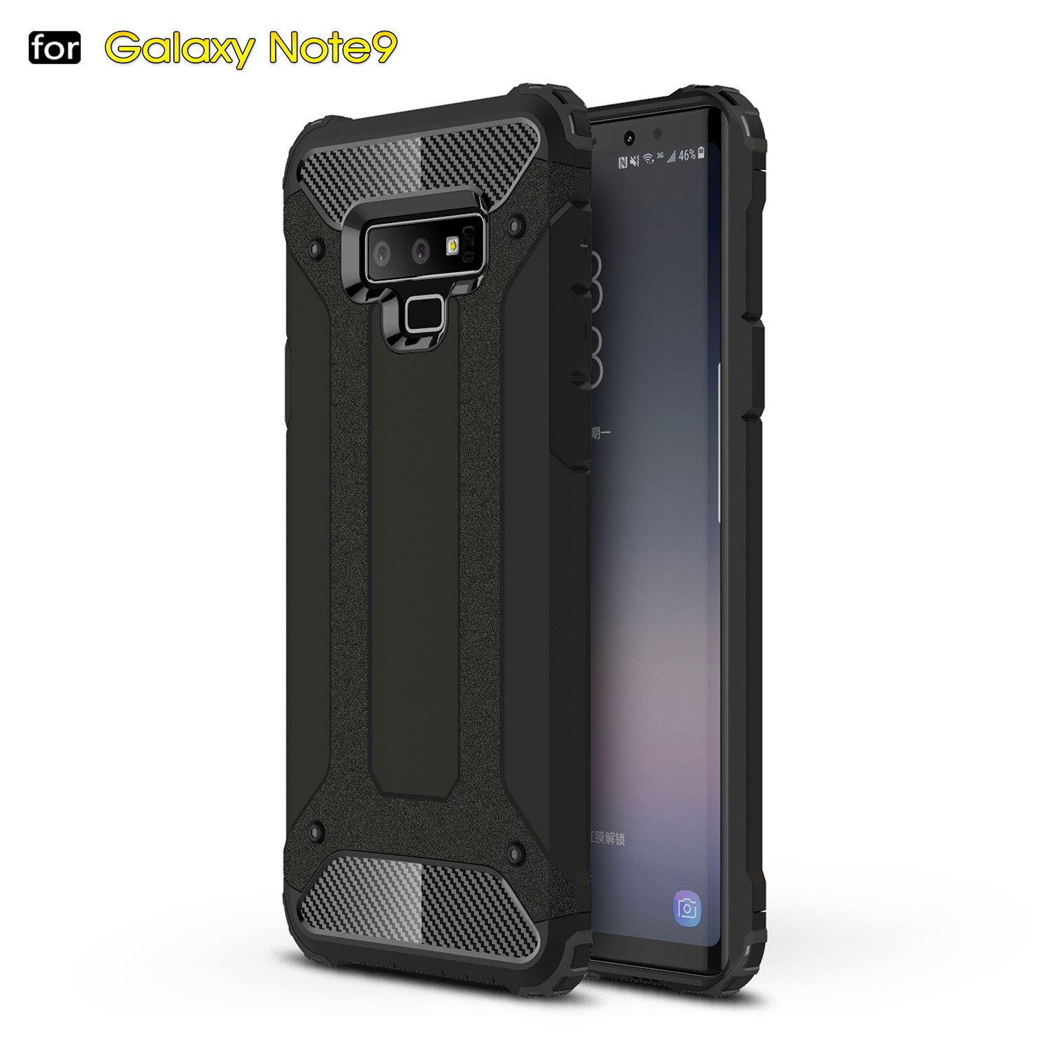 Hybrid Case Back for Samsung Galaxy NOTE 9 8 5 S9 S8 A6 Plus S7 S6 Edge S5 A5 A7 A8 Full Protector Cover Armor New Luxury Smart