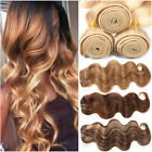Ombre Brazilian 8A Remy Human Hair THICK 3Bundles/300G Weave Straight Body Wave