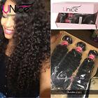 UNice Hair Brazilian Curly Virgin Hair Weaves 1/3 Bundles Human Hair Extensions