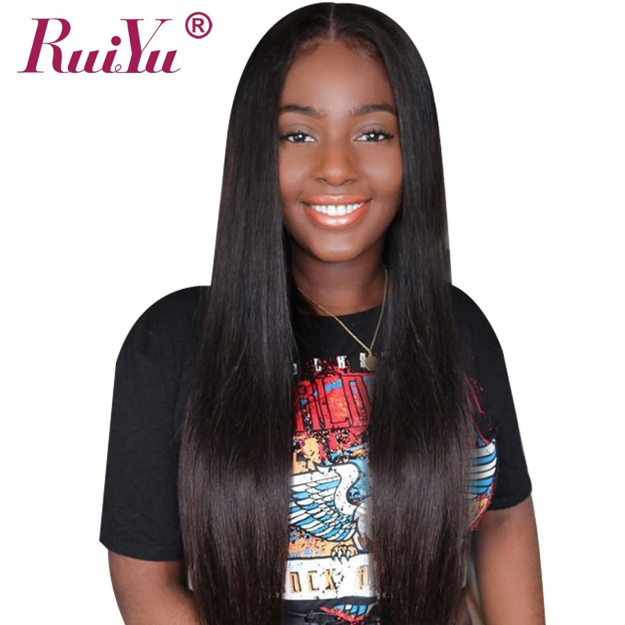 13x4 Lace Front Human Hair Wigs Brazilian Wig Human Hair Straight Lace Front Wig For Black Women RUIYU Hair Lace Wigs Remy 8-26'