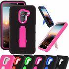 For T-Mobile REVVL / ALCATEL A30 FIERCE KickStand Phone Case Cover Armor P-Stand
