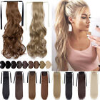 US 100% Real New Clip In Hair Extension Pony Tail Drawstring Ponytail as human