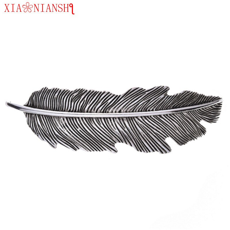 XIAONIANSHI Hot Women Vintage Feather Hair-Clip Jewelry Hair Accessories Ancient Silver Hairpins Bohemian Hair Barrettes Comb