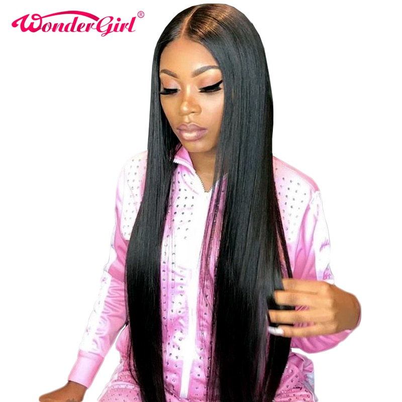 13x6 Lace Front Human Hair Wigs For Women Remy Glueless Straight Lace Front Wig 13x4 Pre Plucked Brazilian Lace Wig Wonder girl