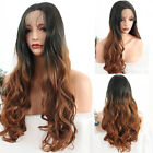 Brazilian Ombre Color Synthetic Lace Front wig 180% Density #1b/#30 Hair Wigs