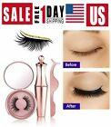 Magnetic False Eyelashes Natural Eye Lashes Extension Liquid Eyeliner + Tweezer