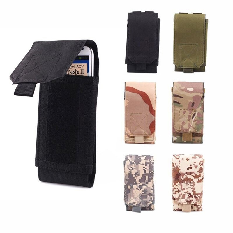 MOLLE Waist Bag Army Tactical Military Mobile Phone Bag Belt Pouch Case Cover Pouch For Xiaomi iPhone X XS HUAWEI Nokia3 Nokia 3