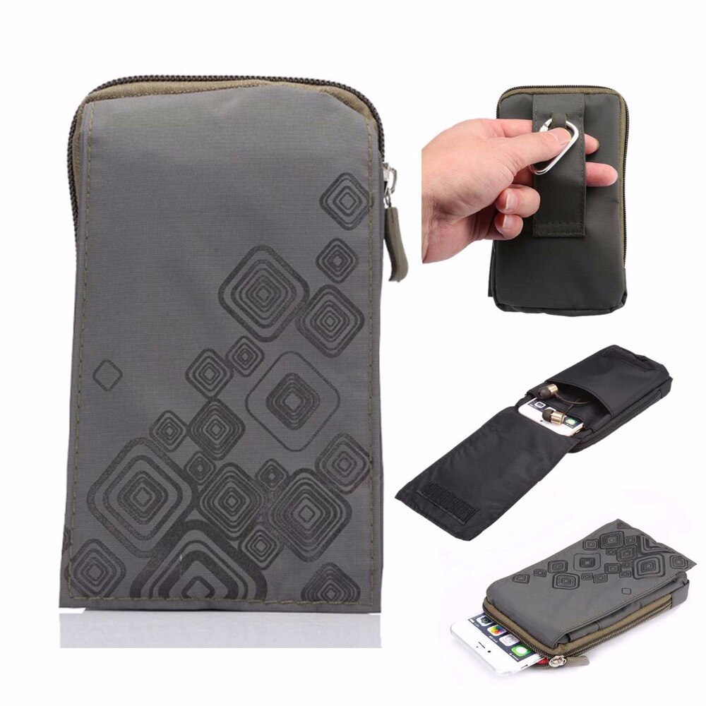 SUBIN Outdoor Sports Wallet Mobile Phone Bag Army Cover Case For Multi Phone Model Hook Loop Belt Pouch Holster Bag