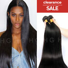 100% Peruvian Real Remy 1/3/4 Bundles Human Hair Extensions Thick Silk Long US