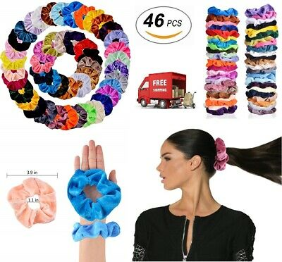 46 Pcs Hair Scrunchies Velvet Elastics Hair Ties Scrunchy Bands Ties Ropes Gifts