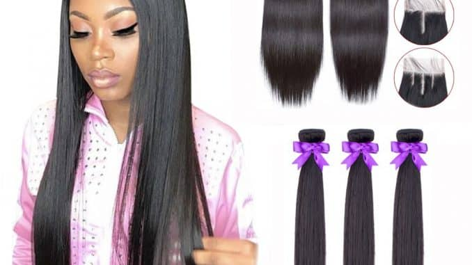 Human Hair Bundles With Closure 6