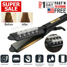 Hair Straightener Ceramic Tourmaline Ionic Flat Iron Professional Glider US Plug