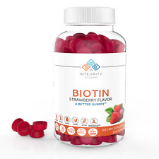 Integrity Vitamins Biotin Gummy Supplement - Hair, Skin & Nails,120 Gummies