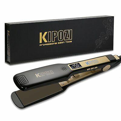 KIPOZI Salon Professional Hair Straightener Flat Irons Titanium Digital Display
