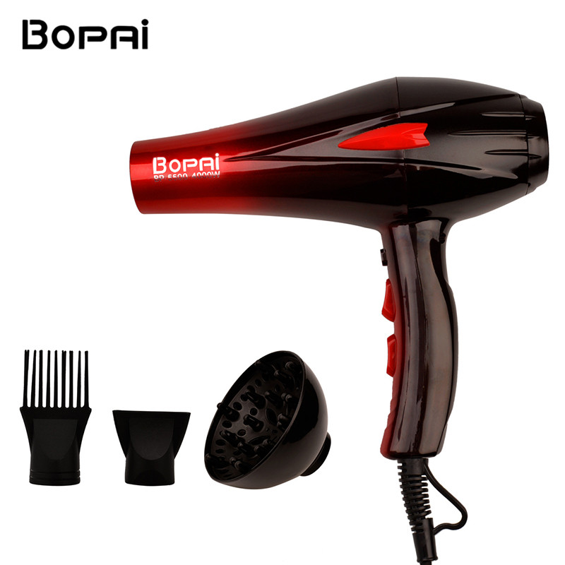 Professional Electric 4000W Travel Household Hair Dryer Hair Styling Tools Blow Dryer Hot and Cold Air Dryer Salon With Nozzle