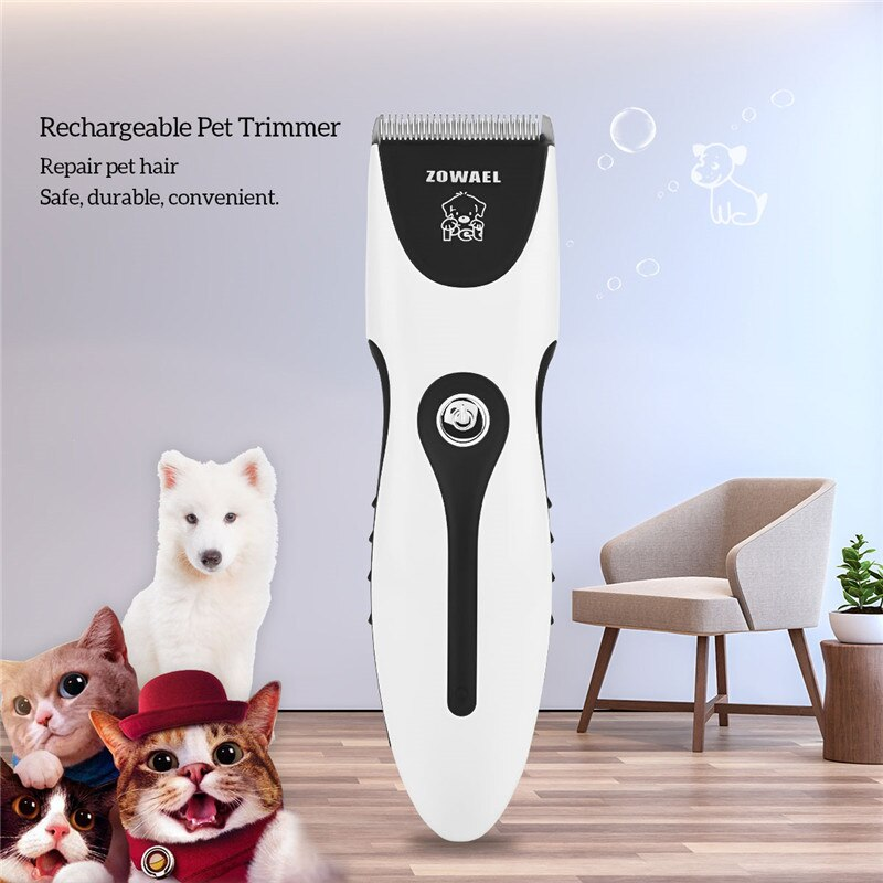 Rechargeable Cat Dog Hair Trimmer Electrical Pet Hair Clipper Remover Cutter Dog Grooming Pet Product Haircut Machine RCS06Q 37