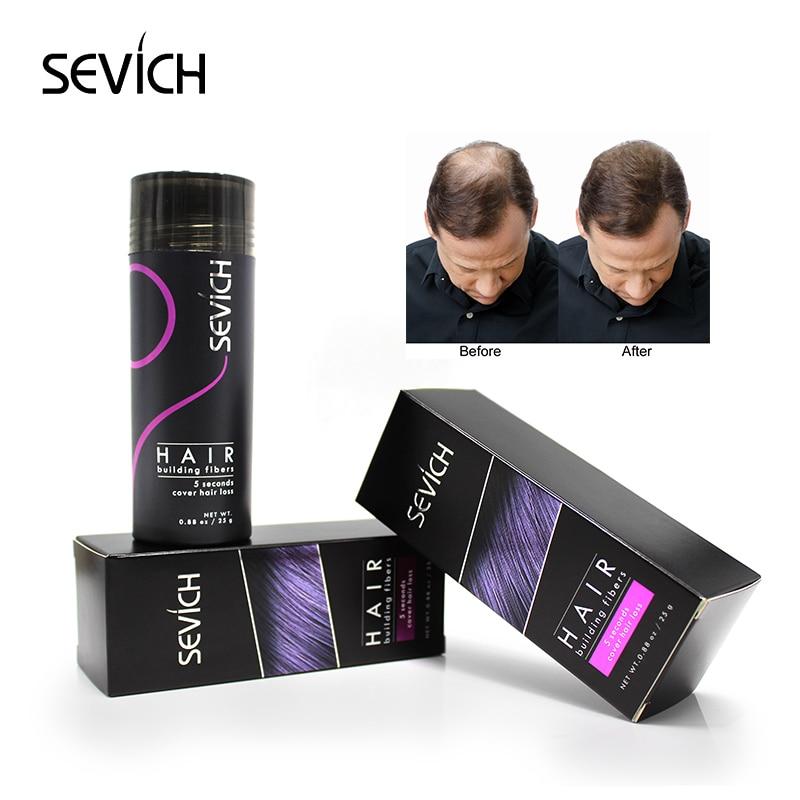 sevich Regrowth Hair Keratin Thickening Hair Building Instantly 25g Hair Fiber Powder Spray Applicator Black/dk brown