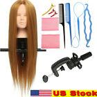 "24"" 26'' Human Hair Training Practice Head Mannequin Hairdressing / Braid Tool"