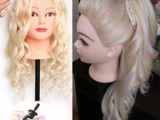 Human Hair Mannequin Head 17