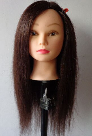 85% natural human hair Practice Mannequin head touch dummy head female mannequin head with hair head